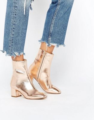 River Island Metallic Heeled Ankle Boot at asos.com | @giftryapp