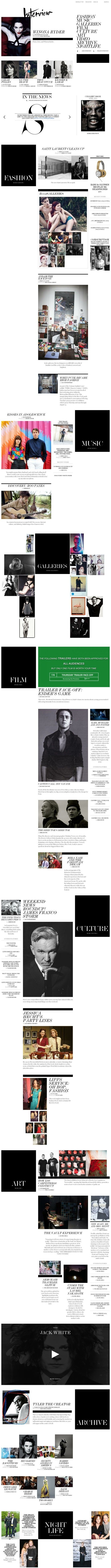 Interview Magazine | Web Design