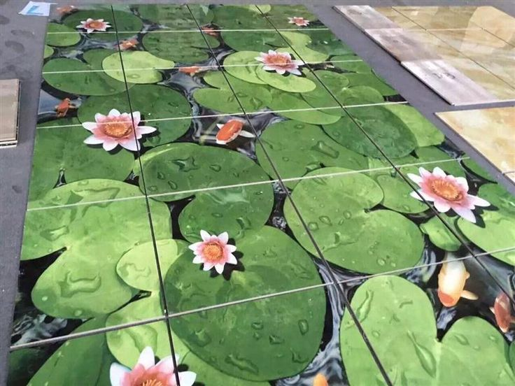 Polish Decoratieve tegel en steen concepten Factory supply 3d badkamer tegel ontwerp Nieuwste ontwerp 3D Floor Art voor Koop