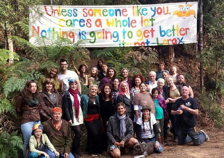 In Toolangi forest folk gather to voice their concerns over logging Leadbeater's Possum habitat.