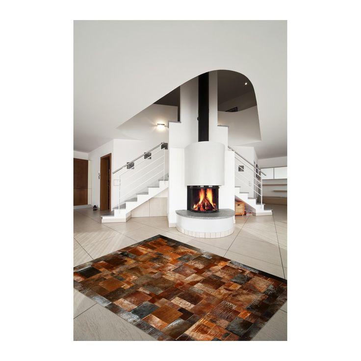 cowhide rug cognac cavallino puzzle ORDER HERE: http://www.furhome.gr/shop/en/cowhide-rug-cogniac-cavallino-puzzle-132.html