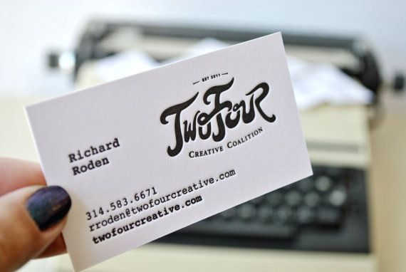 300 Letterpress business cards letterpress by FunkyPrintStudio