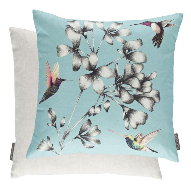 Harlequin Cushions - Filled Cushion Amazilia Floral Sky 43cm X 43cm
