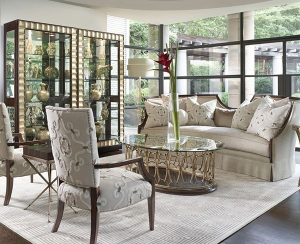 Luna sofa living room by marge carson marge carson for Designer room outlet