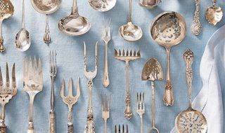 Ultimate Guide to Flatware, Reference Guide silverware sterling silver flatware, hallmarks, serving sets, dining room, forks spoons knives, Identify silverware