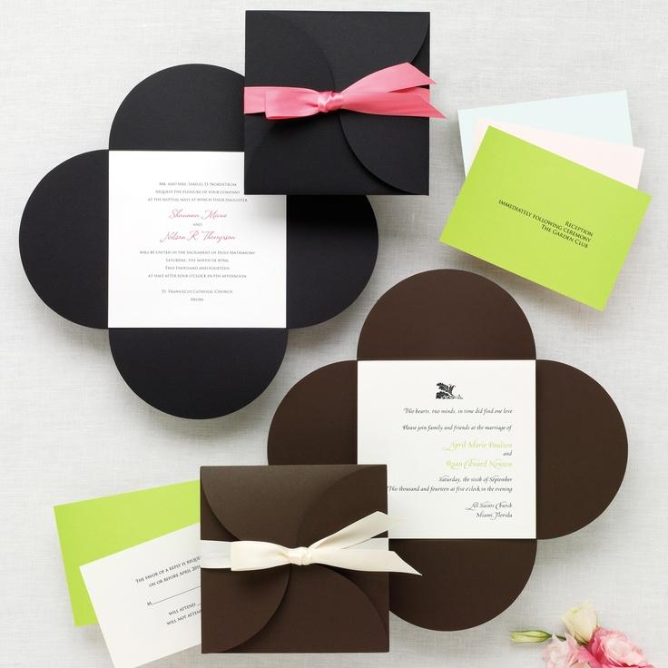 Petal Wrap Wedding Invitation | #exclusivelyweddings