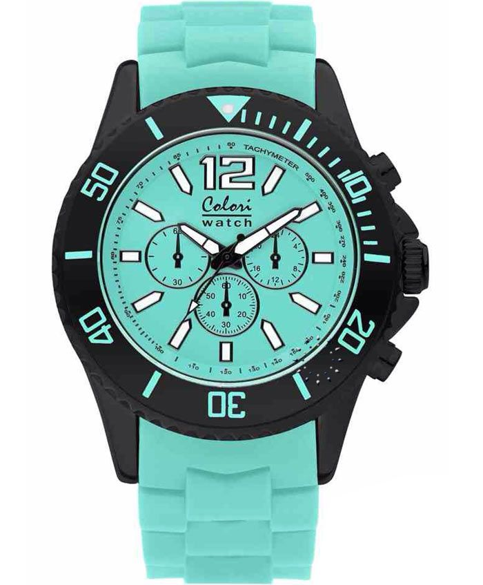 COLORI Cool Chrono Mint green Silicone Strap Τιμή: 69€ http://www.oroloi.gr/product_info.php?products_id=35122