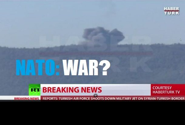 BREAKING: Russian Su-24 Fighter Bomber Shot Down By Turkey On Syrian Border