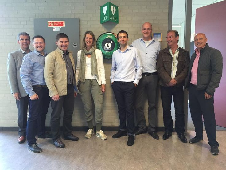 The founder of Rotaid AED Cabinets, Ruben Halmans, together with employees of Rotaid and international business partners from Denmark & Poland. They visited Holland to meet the Rotaid team and get a tour through the manufacturing facility in Venray.