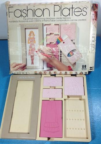 1978 Tomy Fashion Plates Designer Toy Set