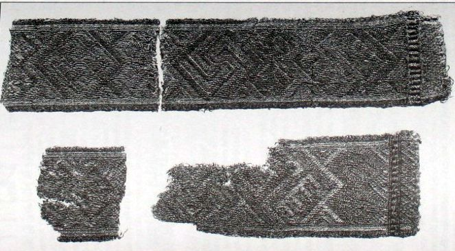 This tape was found in Snartemo (Norway). It dates from the 6th century.