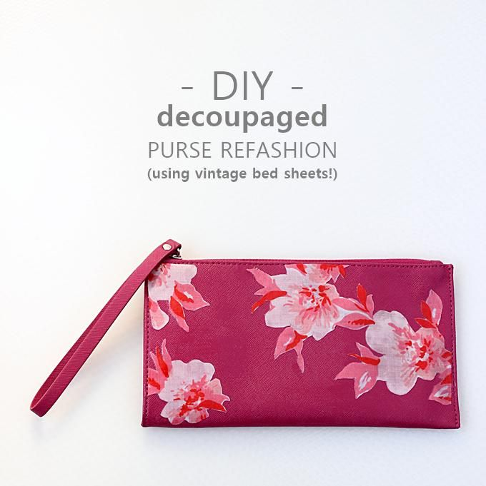 DIY Clutch DIY vintage floral purse refashion DIY Clutch