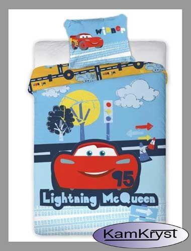 Pościel Cars Auta - pościel dla niemowląt do łóżeczka 100x135 cm - 100% bawełna