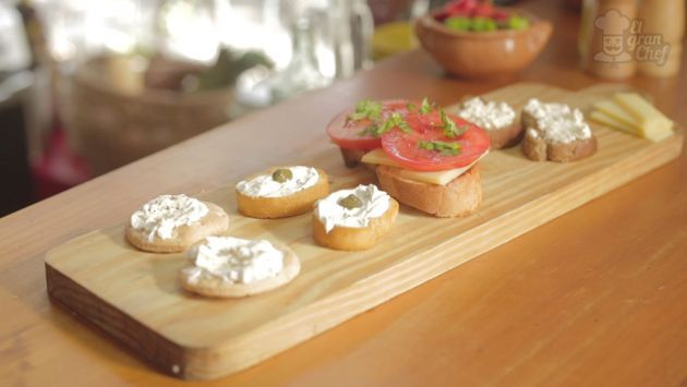 Recetas de canap s fr os chefs recetas and canapes for Easy cold canape ideas