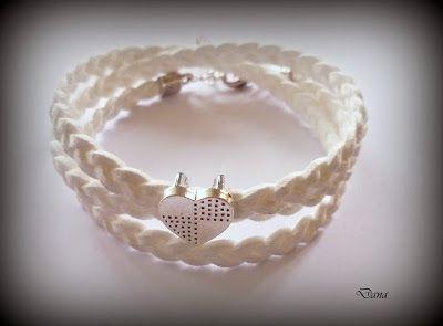 Dana  Biżuteria Rekodzieło: Nr 29 Bransoletki z rzemyków i sznurków