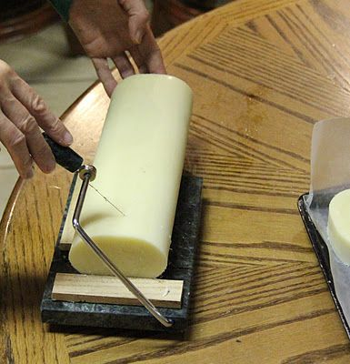 Cold Process - Castile Soap Recipe (interesting cutter)