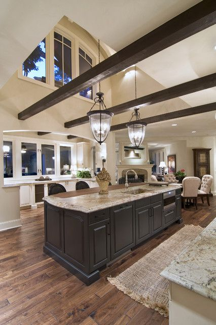 23 Great Kitchen Design Ideas in Traditional style.  This is the hardwood floor color I'm envisioning for our house.