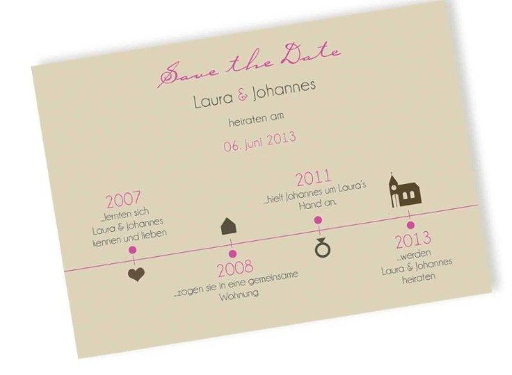 Save-the-Date Karte - Zeitreise von Kreative Papeterie für Hochzeit, Geburt und Geburtstag! auf DaWanda.com