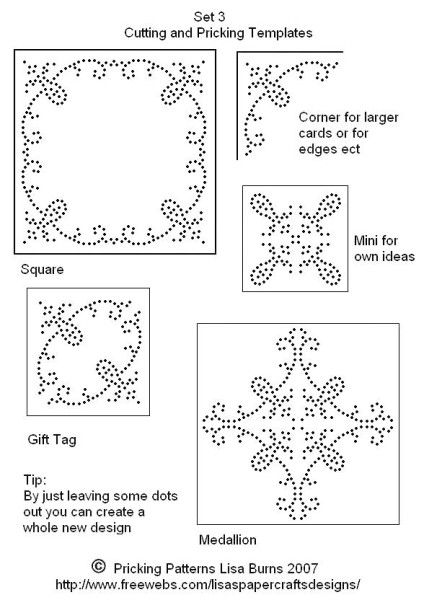paper pricking templates - 123 best pricking pick point card patterns images on