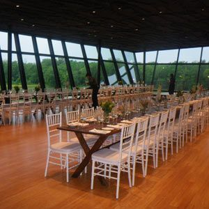Located only 8 minutes from downtown Dallas, the Trinity River Audubon Center on 120 beautiful acres is a spectacular setting for your wedding.