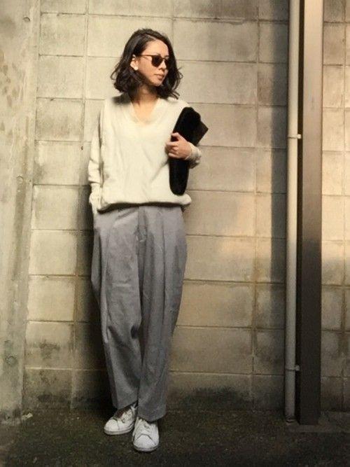 IENA SLOBEのパンツ「ストレッチフランネル ワイドパンツ◆」を使ったemaemiのコーディネートです。WEARはモデル・俳優・ショップスタッフなどの着こなしをチェックできるファッションコーディネートサイトです。