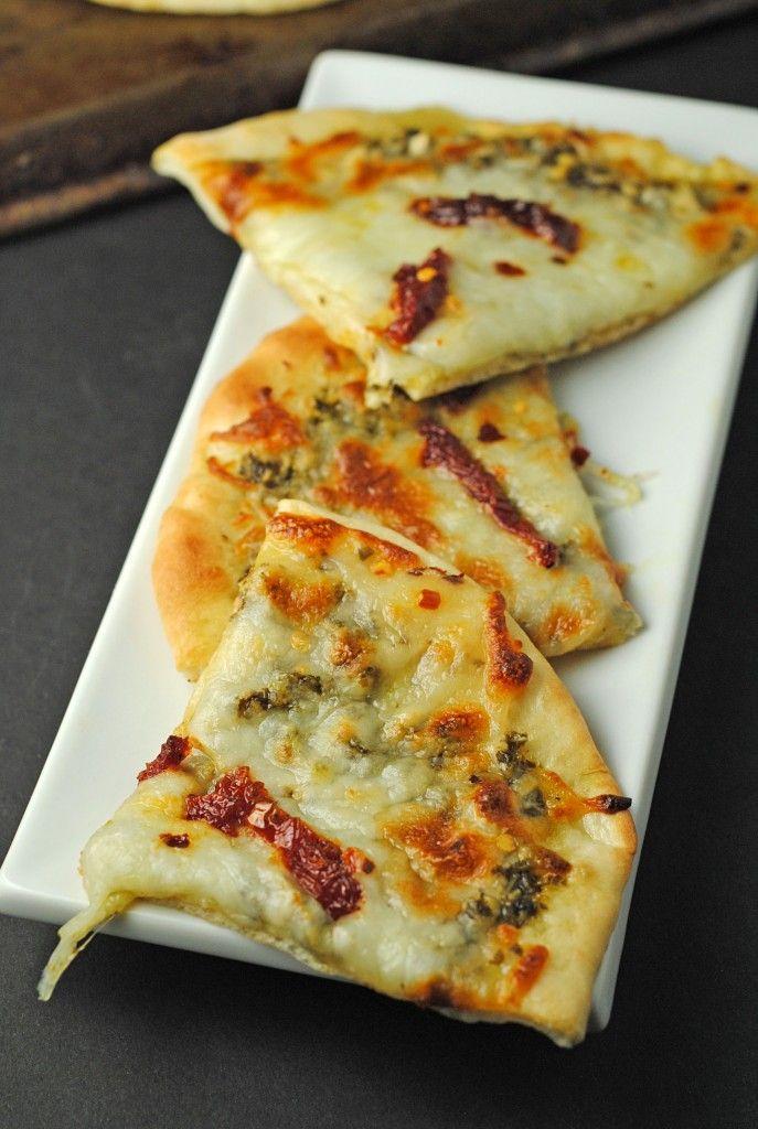 Grilled Pesto, Mozzarella, & Sundried Tomato Flatbreads