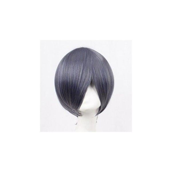 Black Butler Ciel Phantomhive Cosplay Wig ($22) ❤ liked on Polyvore featuring beauty products, haircare, hair styling tools, accessories, wig, black haircare and black hair care