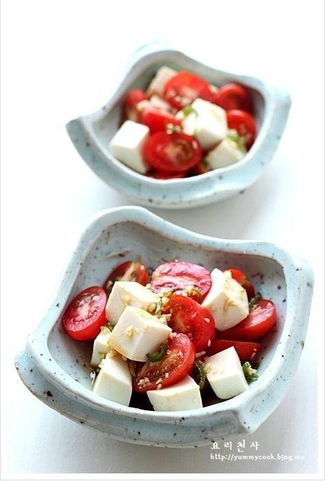 토마토 두부샐러드