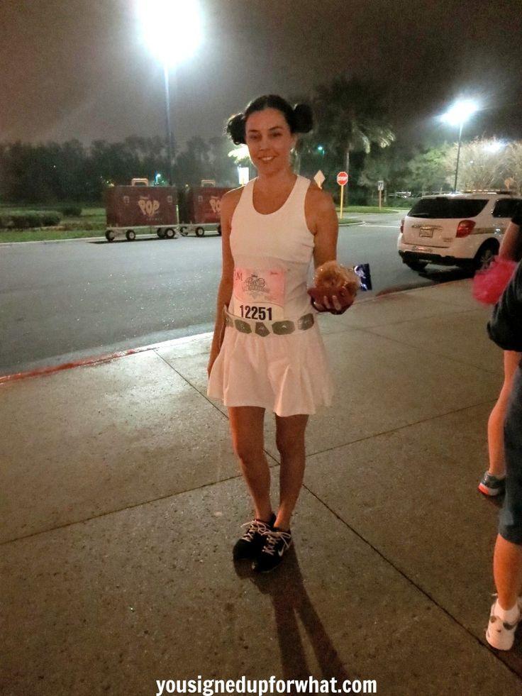 Princess Leia costume before race