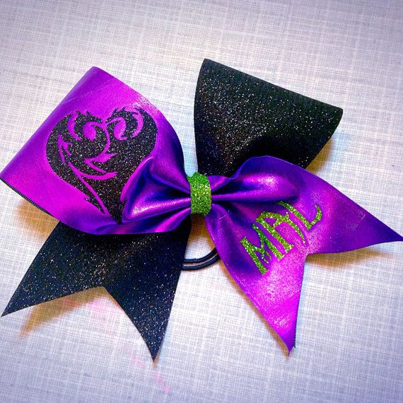 Cheer bow inspired by Mal from Descendants by AnnieMaeandWes
