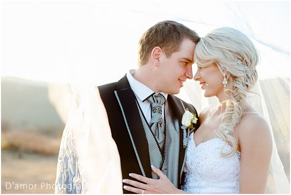 perfect bridal portrait with veil | White Wedding Wonderland at Thaba Ya Batswana | http://damorphotography.co.za/ben-estune-white-wedding-wonderland-at-thaba-ya-batswana/