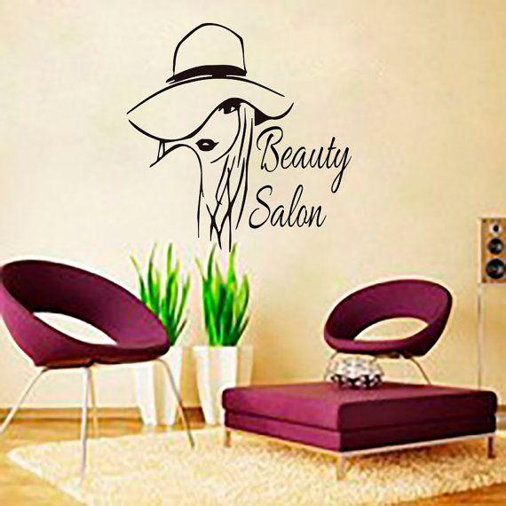 Wall decal beauty salon hair salon woman haircut hairdressing decals vinyl sticker bedroon - Stickers salon design ...