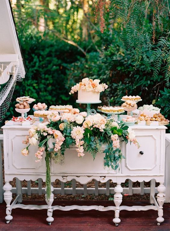 Yummy Dessert Table / http://www.himisspuff.com/wedding-dessert-tables-displays/12/