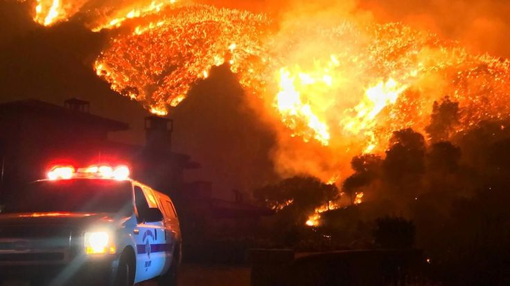 FOX NEWS: Residents flee as California wildfire nears Santa Barbara Montecito