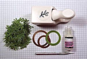 Evergreen Wreath Tutorial - Splitcoaststampers