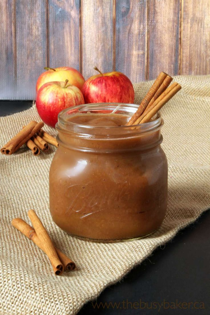 Delicious crock-pot apple butter with only two ingredients: apples and cinnamon. It's vegan, gluten-free, and contains no sugar!