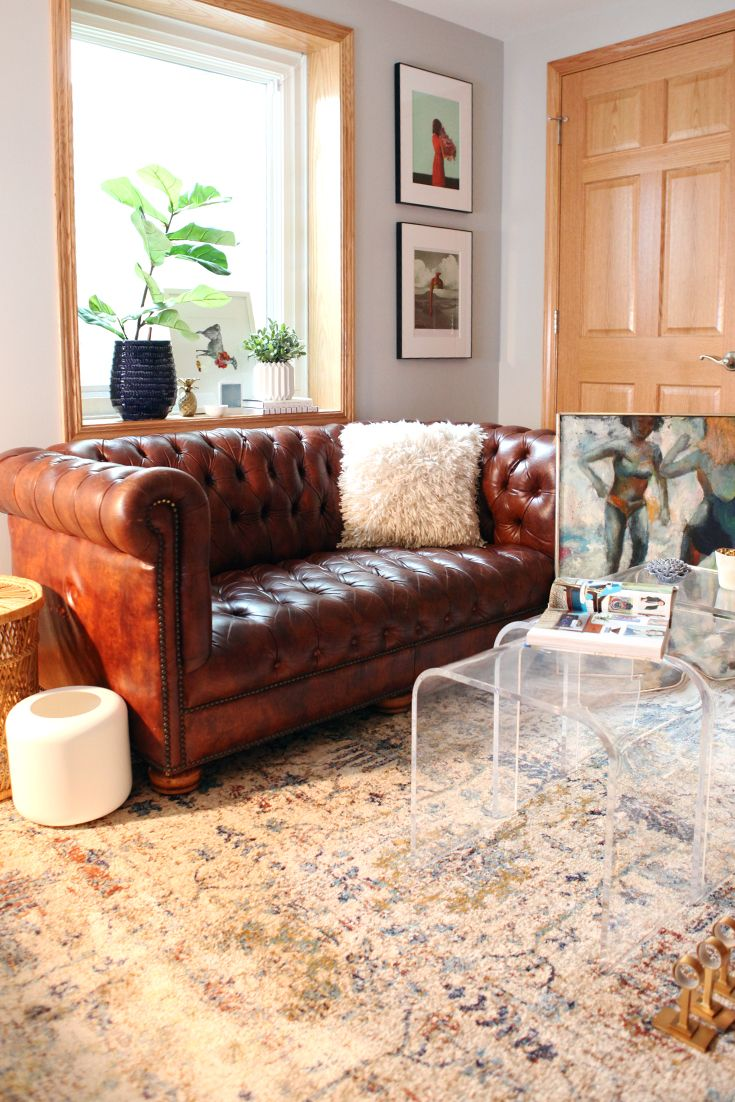 Leather Sofa Makeover 9 Best Chesterfield Images On Pinterest Leather Chesterfield