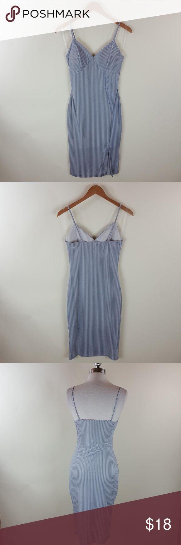 Velvet Striped Silver Bodycon Dress Velvet Striped Silver Bodycon Dress Dresses Midi