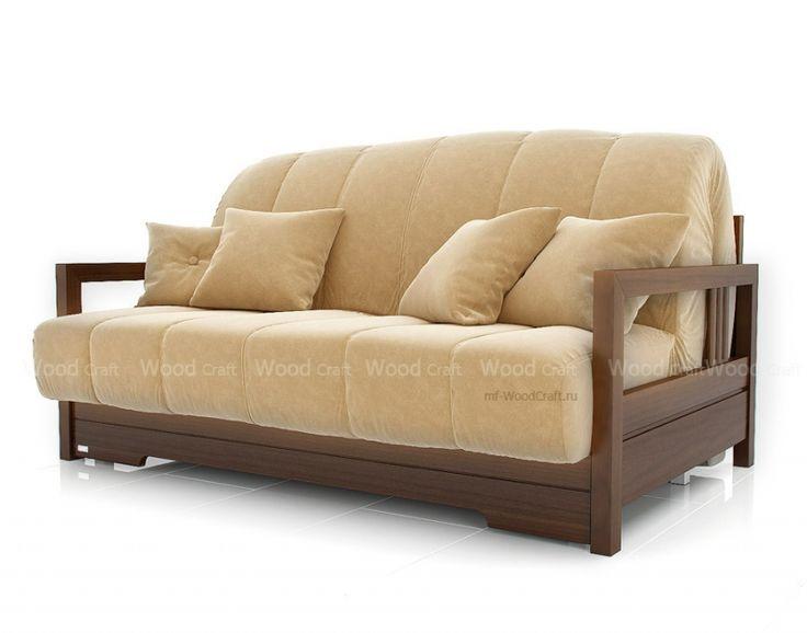 Ретро диван из дерева Осака ( мягкая скамейка )