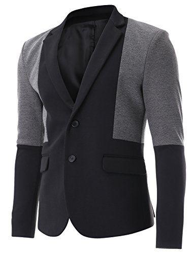 FLATSEVEN Mens Black and Grey Color Block Two Tone Single Blazer Jacket (BJ311), Boys M FLATSEVEN http://www.amazon.com/dp/B00NTYBX8C/ref=cm_sw_r_pi_dp_3ze1ub0FTC1TQ