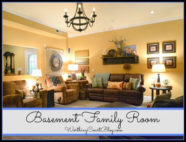 Worthing Court Blog: Basement Family Room