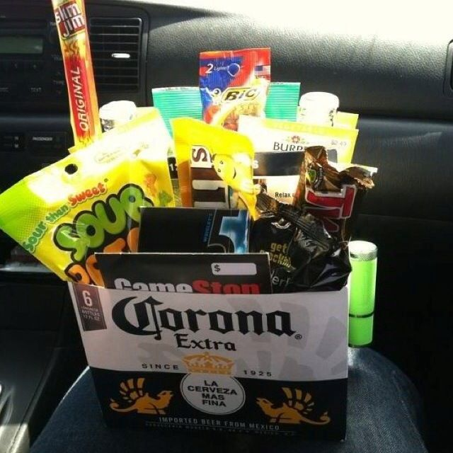 7 best fiesta esta images on pinterest birthday ideas stealing this idea for mikes easter basket but using angry orchard box instead negle Images