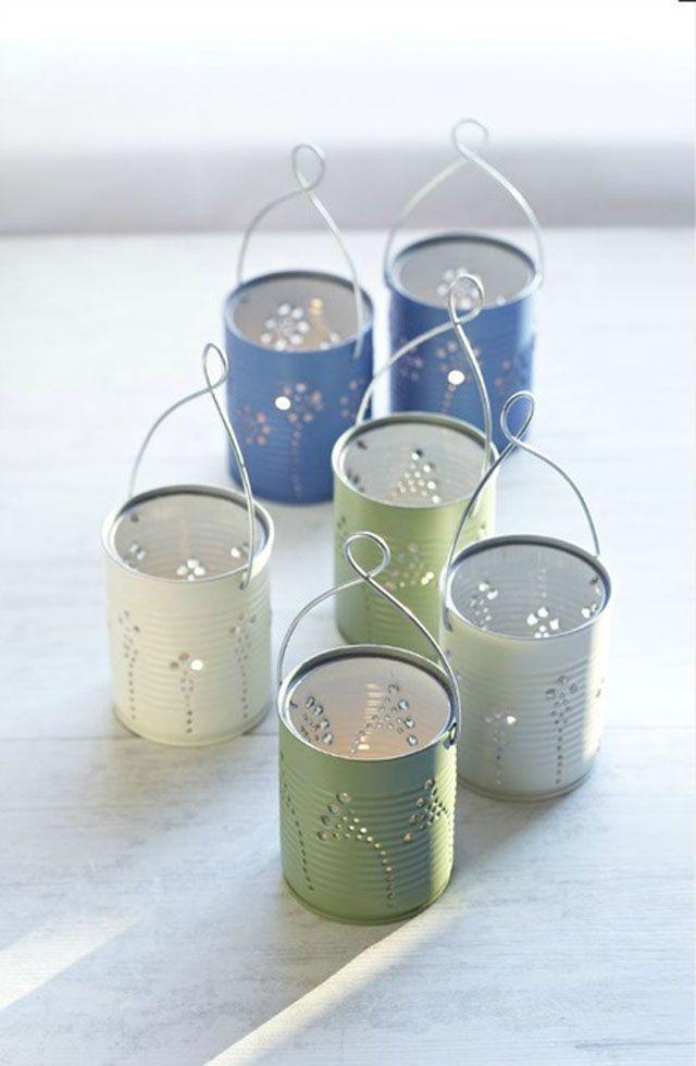 Recycled Tin Can Crafts | DIY Tin Can Lanterns - Recycle tin cans to make beautiful lanterns!