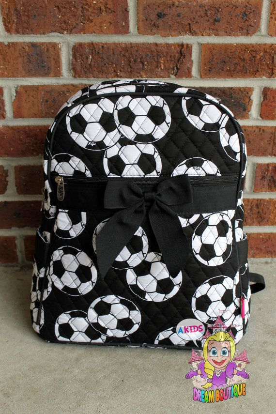 Personalized soccer sports girly backpack by AKidsDreamBoutique