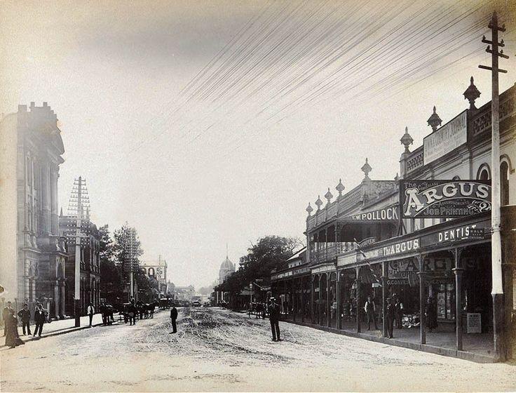 Church Street,Parramatta,in the western suburbs of Sydney in 1898.A♥W