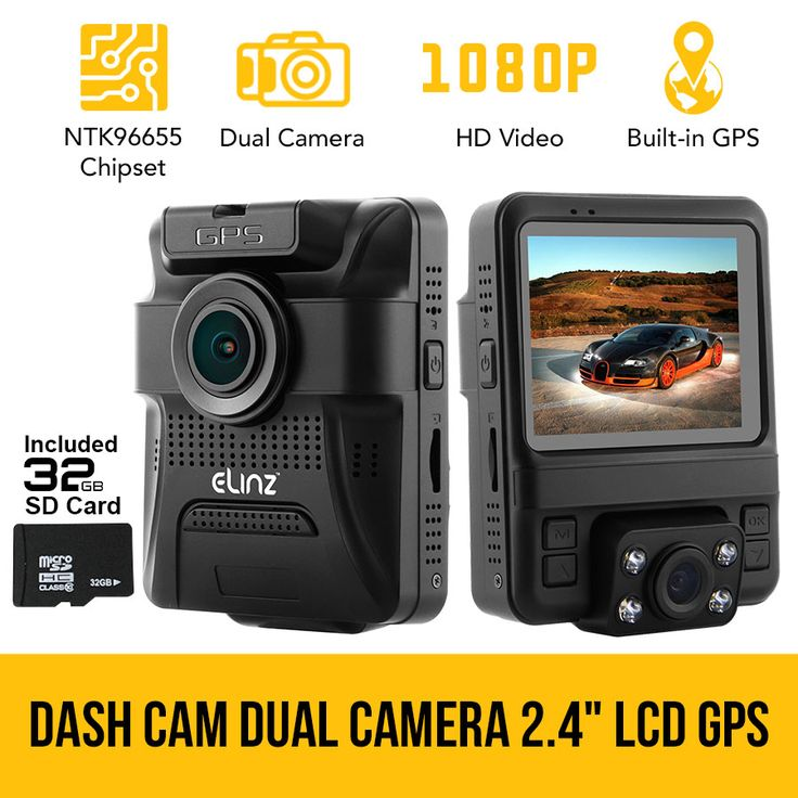 Dash Cam Dual Camera Car DVR Video Rotatable Lens 1080P HDMI GPS 150° Novatek