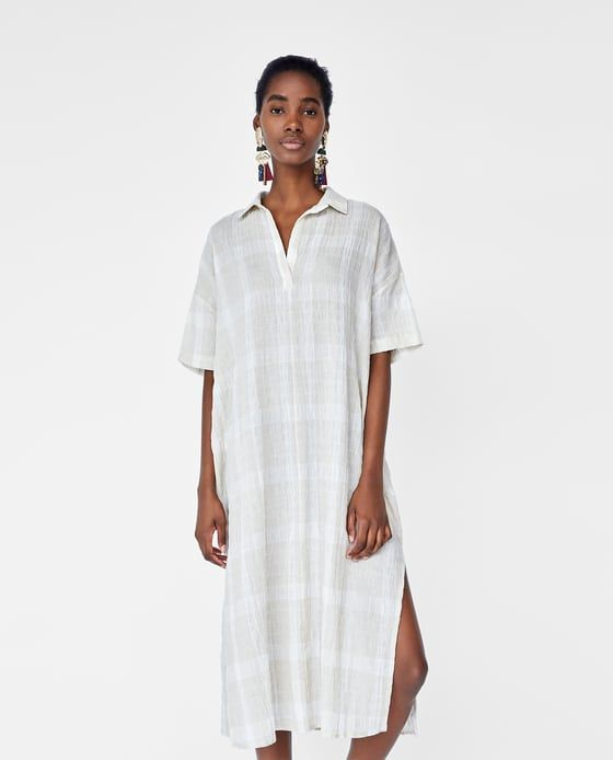 d47d59d4 Image 2 of RUSTIC CHECKED TUNIC from Zara New Dress, Short Sleeve Dresses,  Tunic