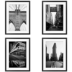 @Overstock - Artist Michael Joseph captures the beauty of New York in this modern framed art set. Available in a set of four, each framed giclee print displays a different detail of the iconic city. Displayed together, the set brings cosmopolitan style to any room.http://www.overstock.com/Home-Garden/Michael-Joseph-New-York-Series-4-piece-Framed-Art-Set/4751053/product.html?CID=214117 $239.99
