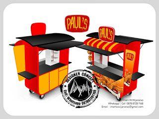 Desain Logo   Logo Kuliner    Desain Gerobak   Jasa Desain dan Produksi Gerobak   Branding: Desain Gerobak Fried Chicken Pauls
