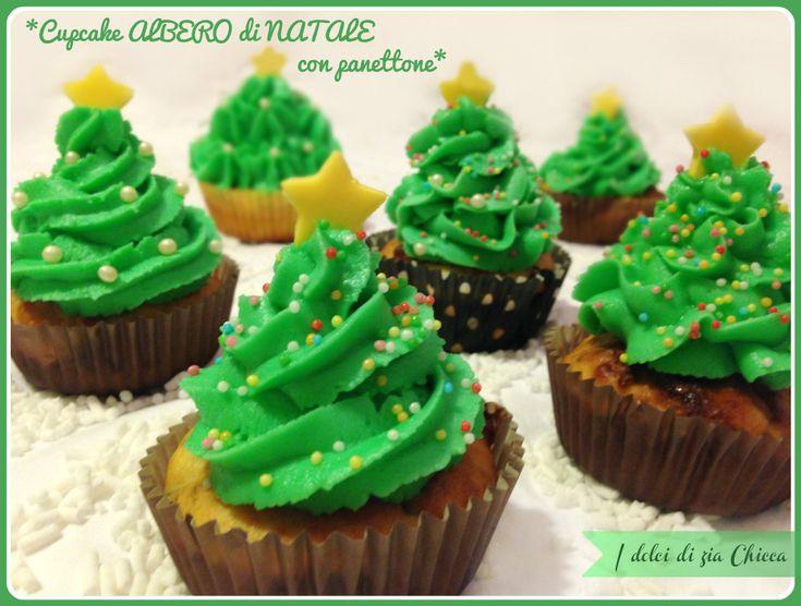Cupcake ALBERO di NATALE con avanzi di panettone